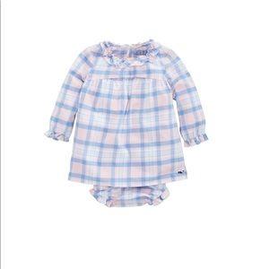 Vineyard Vines Baby Girl Plaid Flannel Dress 6-12m